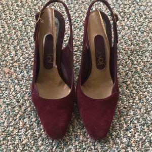 Vintage Maroon Heels! 6.5 😍 Super Cute
